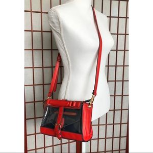 Red Navy Clear crossbody bag